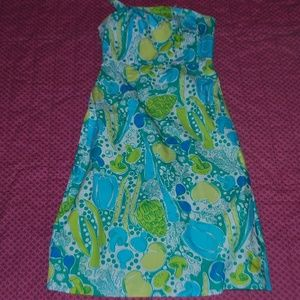 "Lilly Pulitzer ""Steamed Vegetable"" Strapless Dress"